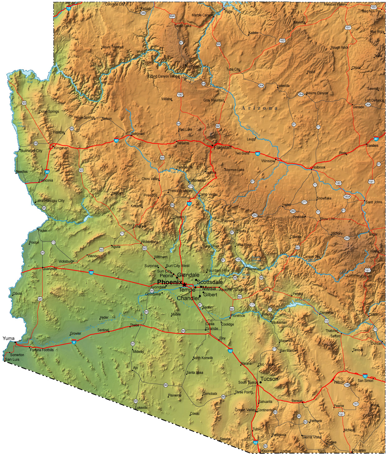 The Best Maps Of Arizona For Fishing And Exploring