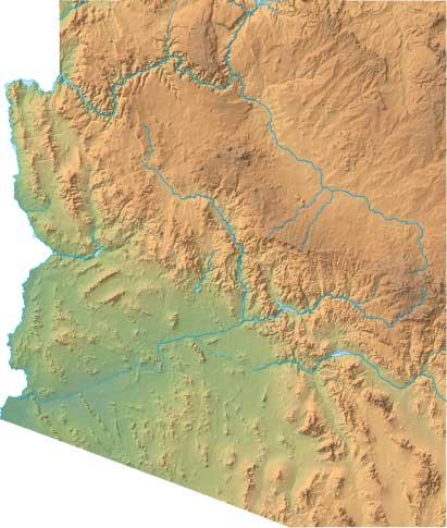 Arizona relief map